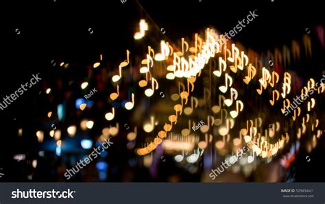 music note christmas lights blurred abstract background christmas light music stock