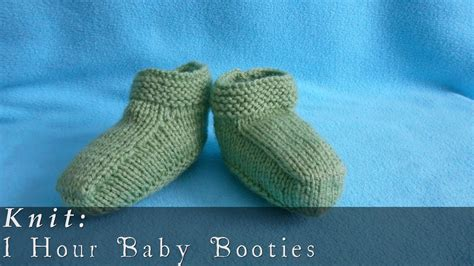 how to knit booties 1 hour baby booties knit viyoutube