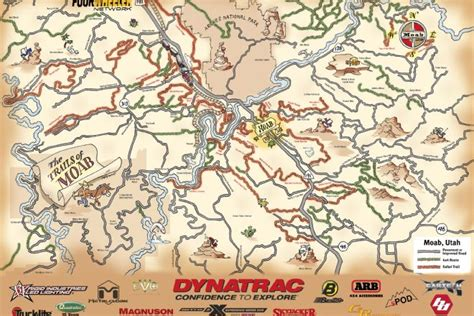 moab jeep trails map 2015 moab map of road trails where to wheel during