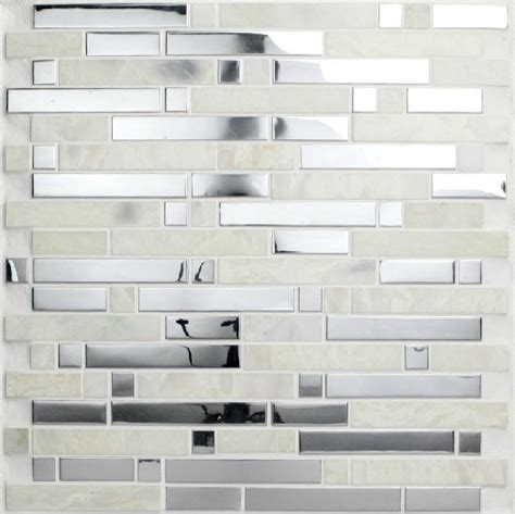 glass and stainless steel backsplash stainless steel mosaic tiles ssmt057 glass mosaic tile
