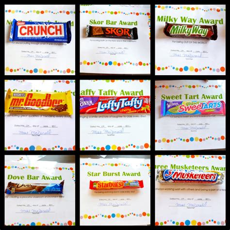 candy bar award certificates kelly s blog
