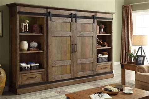 Inside Barn Door Hunts Point 4 Piece Sliding Door Entertainment Wall In