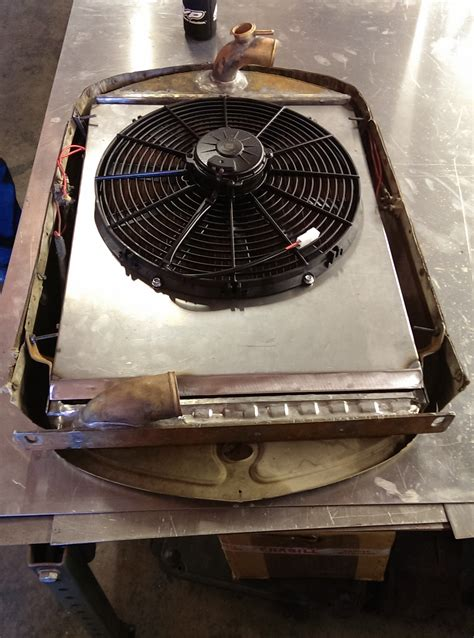 electric fan with shroud 1930 ford model a stede rod custom radiator electric