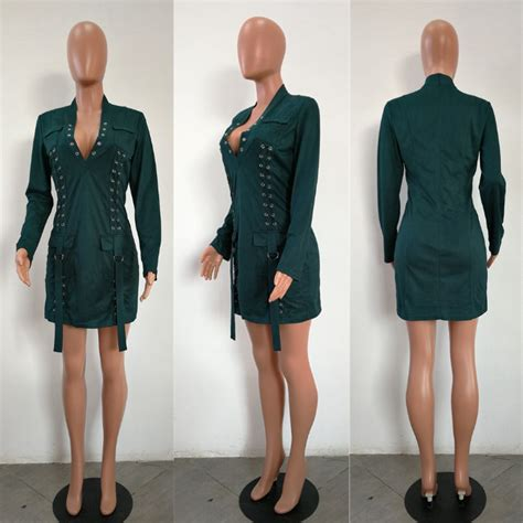Dear Fashion Ask Fashion 10 by Wholesale Green Sleeves Hollow Out Mini Dress Cy 1393