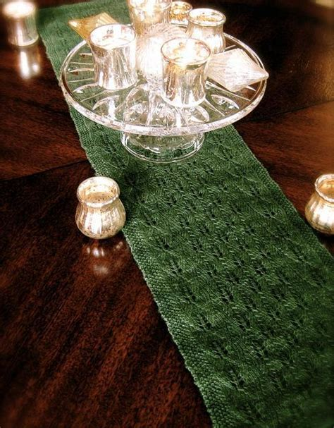 free knitting patterns for table runners forestry table runner by daniellechalson knitting pattern