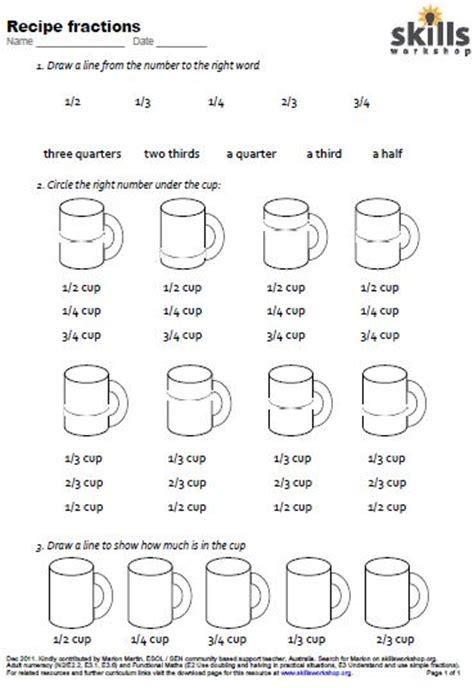 Cooking Measurements Worksheet Answers N2 E3 6 Skills Workshop