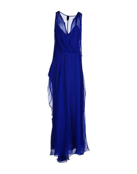 vera wang dresses cocktail dresses maxi dresses vera wang long dress in blue bright blue lyst