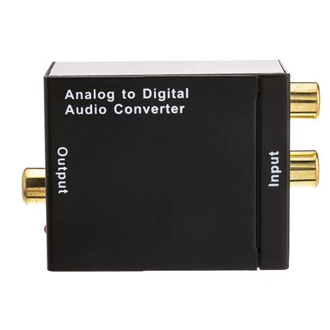 converter audio analog to digital audio converter dual rca f to rca f