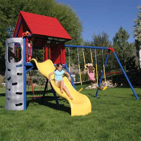 lifetime swing set lifetime 90137 metal playground on sale with fast free