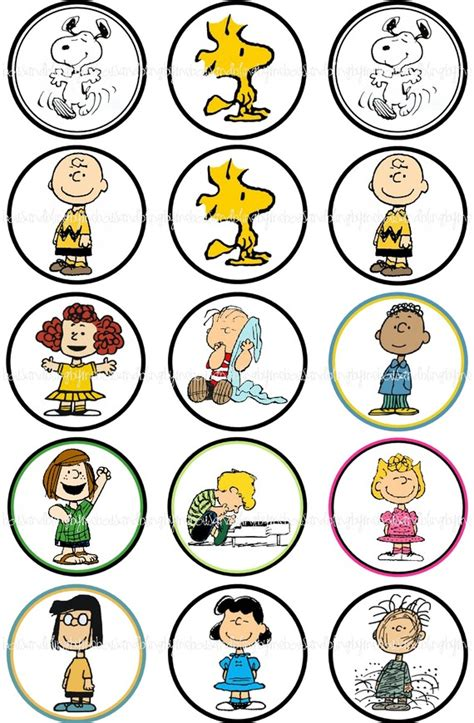 printable charlie brown ornaments the kids could pick a character when they arrive or we