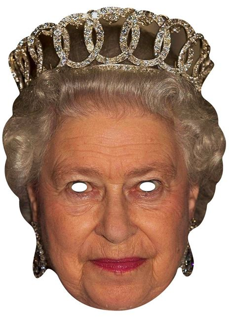 printable masks queen queen elizabeth ii royal single card party face mask