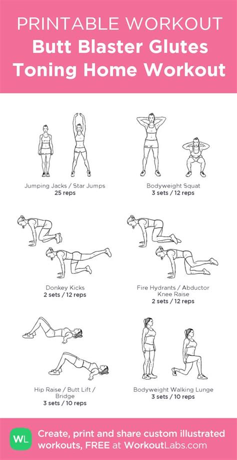 home home workouts and glutes on
