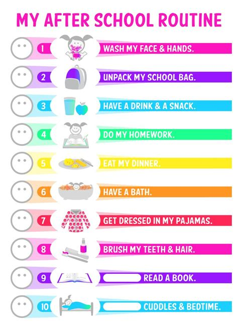printable toddler routine 25 best ideas about after school schedule on pinterest