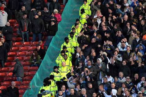 leeds united and manchester united fans arrested most in