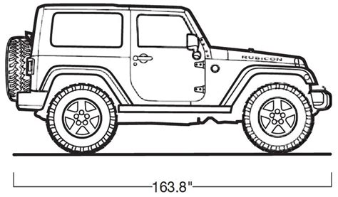 jeep rubicon coloring pages jeep wrangler unlimited coloring pages