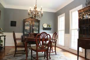 Brown And Blue Dining Room Smoky Blue Dining Room With Brown And Black Accents Eclectic Dining Room Birmingham By