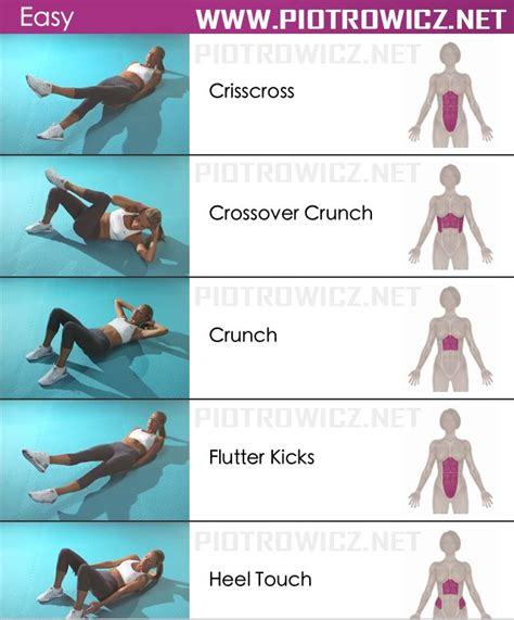 easy abs workout sixpack exercises healthy