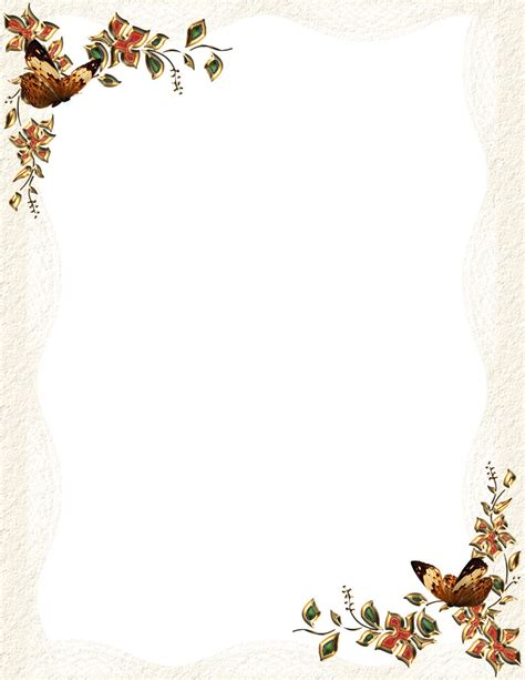 5 Best Images Of Free Printable Fall Stationery Borders Free Fall Stationery Templates Autumn Downloadable Stationery Templates