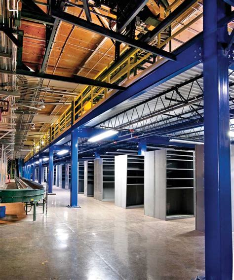 steel mezzanines  work platforms  warehouse storage