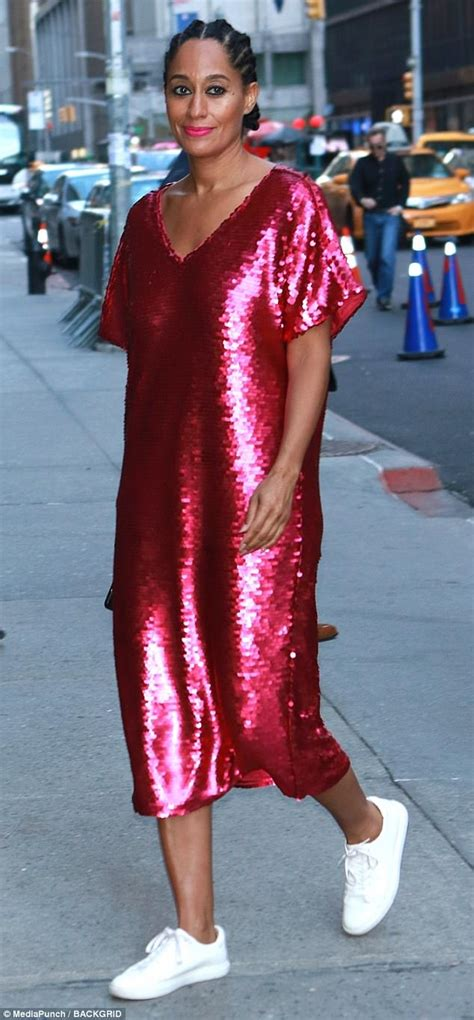 tracee ellis ross email tracee ellis ross wears shimmery pink dress in nyc daily