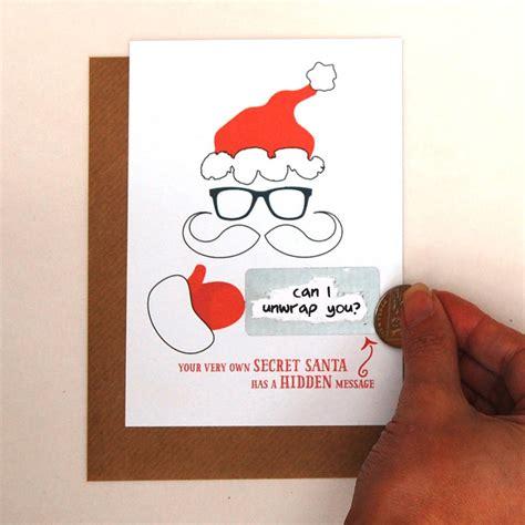 secret greetings write your own message secret santa card by