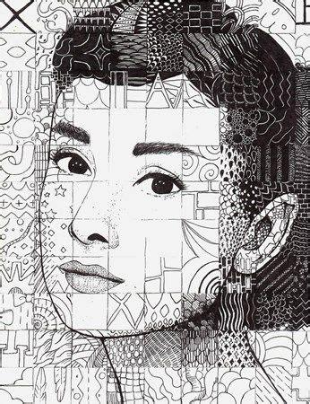 grid pattern portrait 56 best chuck close grid drawings images on pinterest
