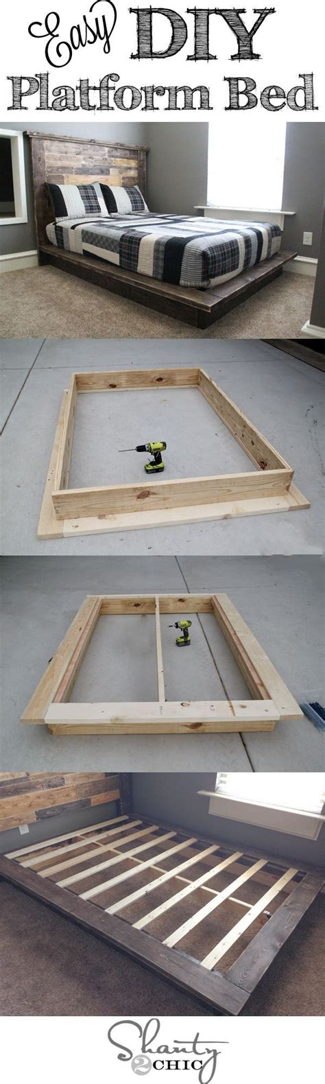 easy diy bed frame diy platform bed pictures photos and images for facebook