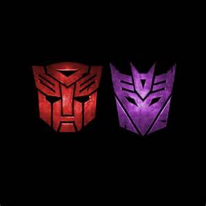 autobots decepticons and transformers logos ipad