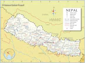 Map Nepal by Pics Photos Nepal Map Satellite Image Physical Political