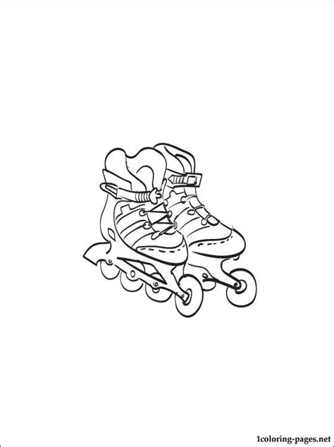 Free Coloring Pages Of Skates Roller Skate Coloring Page