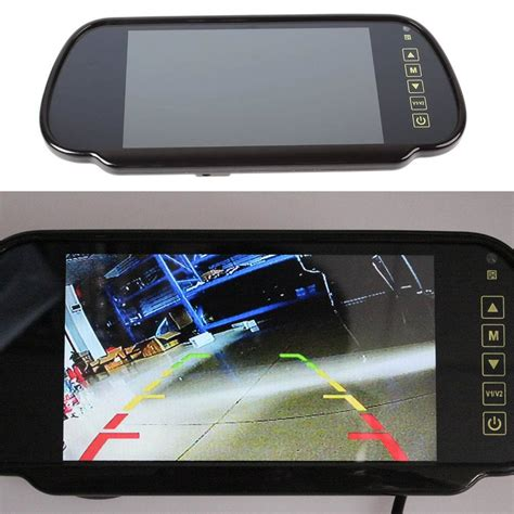 auto rear view 7inch tft lcd car rear view mirror monitor auto vehicle