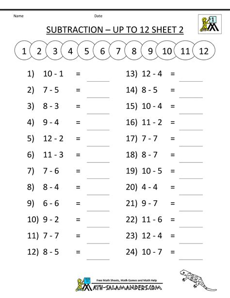 Grade Math Printable Worksheets by Math Subtraction Worksheets 1st Grade