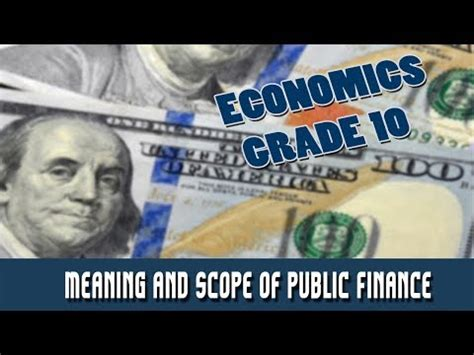 Scope Of Mba Finance In Government Sector by Economics Finance Meaning And Scope