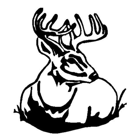 Maroon Deer Tribal Deer In Grass Decal Custom Wall Graphics