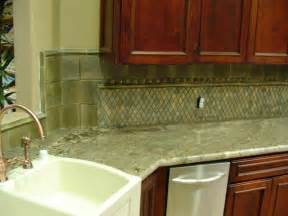 Green Kitchen Backsplash Green Kitchen With Granite And Tile Backsplash Stocker Tile