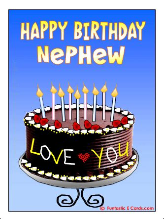 Happy Birthday Wishes For A Nephew Happy Birthday Nephew Quotes For Facebook Quotesgram