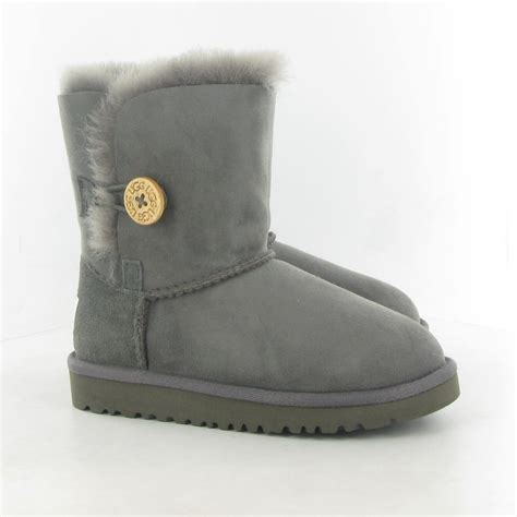 Ugg Bailey Button by Ugg Bailey Button Sheepskin Boots In Grey