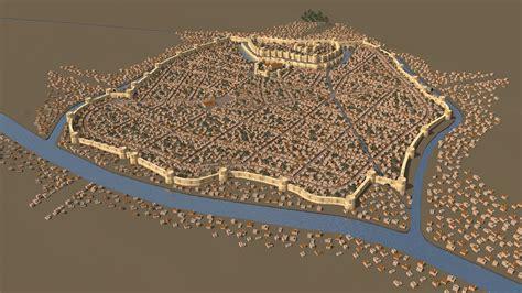 Empire Carpet History by 3d Model Of Ancient Capital City Of Armenia Dvin On Behance
