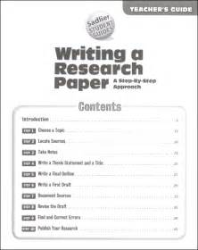 Steps To Write Research Paper Writing A Research Paper A Step By Step Approach