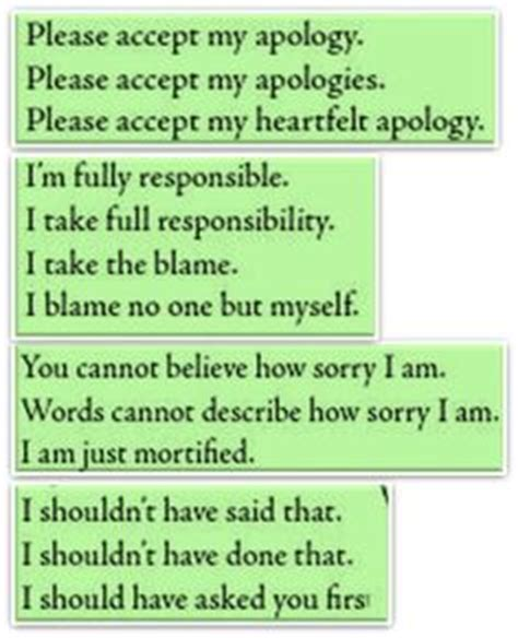 Apology Letter Synonym Phrases Synonyms Now And Then Sometimes Once In A While Language Esl Efl