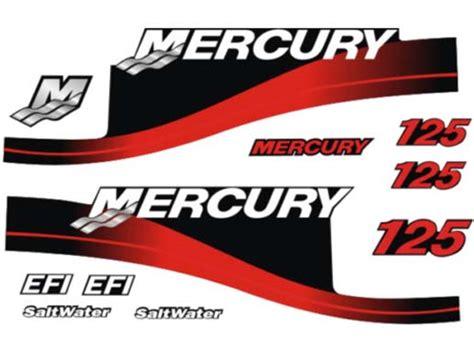 mercury boat motor stickers 125hp mercury efi saltwater outboard motor cowl boat