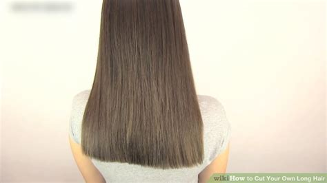 how to cut your hair straight across the back how to cut your own hair wikihow