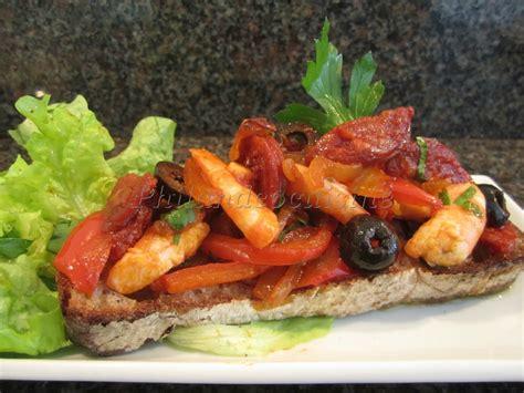 馗ole de cuisine tartine quot ol 233 quot au chorizo et aux crevettes blogs de cuisine