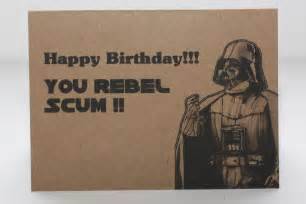 darth vader birthday card and envelope wars by comradecards