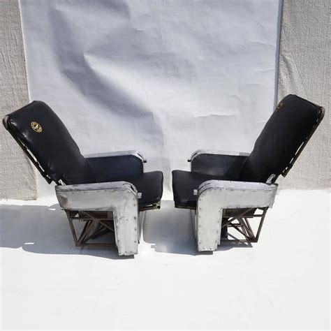 Aircraft Furniture by Aircraft Chairs In Leather And Aluminum For Sale At 1stdibs