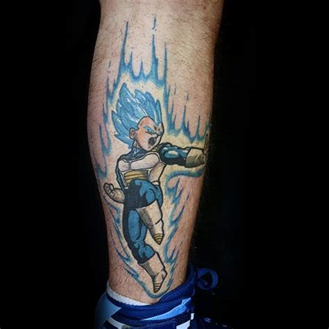electric blue tattoo 40 vegeta designs for z ink ideas