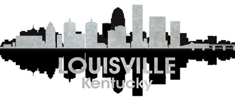 Louisville Ky Skyline Outline by Image Gallery Louisville Silhouette