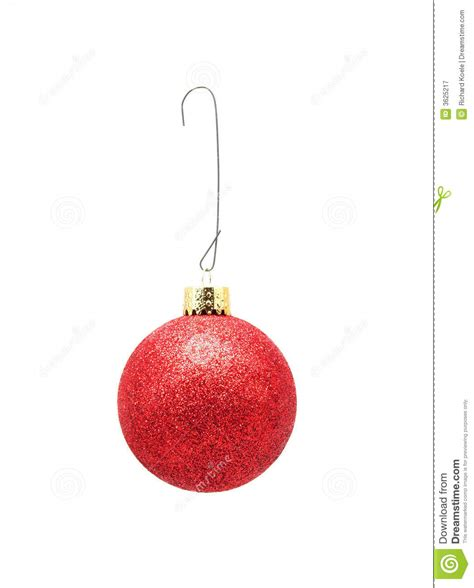 christmas ornament w hook red w glitter royalty free