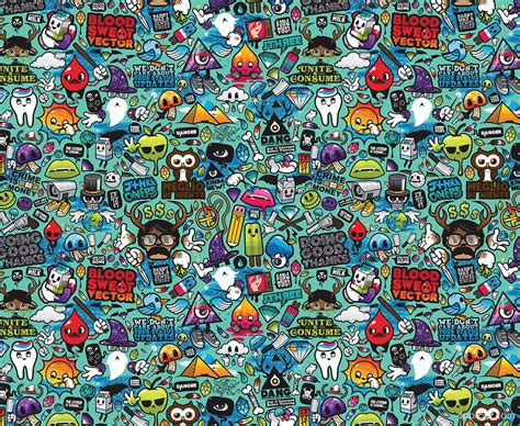 doodle hd doodle collage wallpaper doodle hd wallpaper