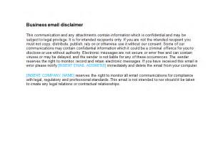 disclaimer templates email disclaimer template bizorb